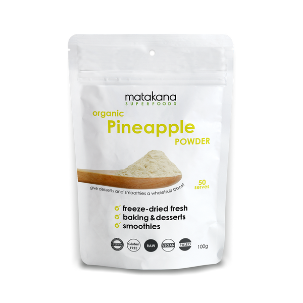 Organic Pineapple Powder 100g - Matakana Superfoods