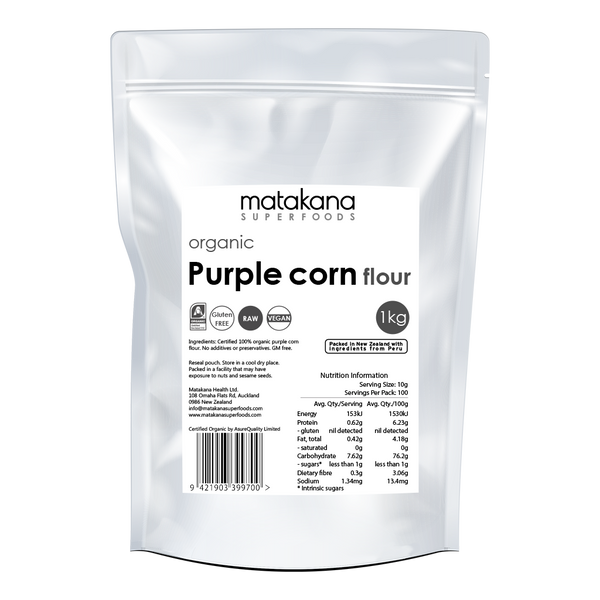 Organic Purple Corn Flour 1kg - Matakana Superfoods