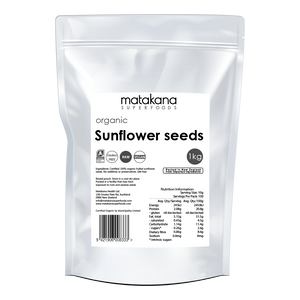 Organic Sunflower Seeds 1kg - Matakana Superfoods