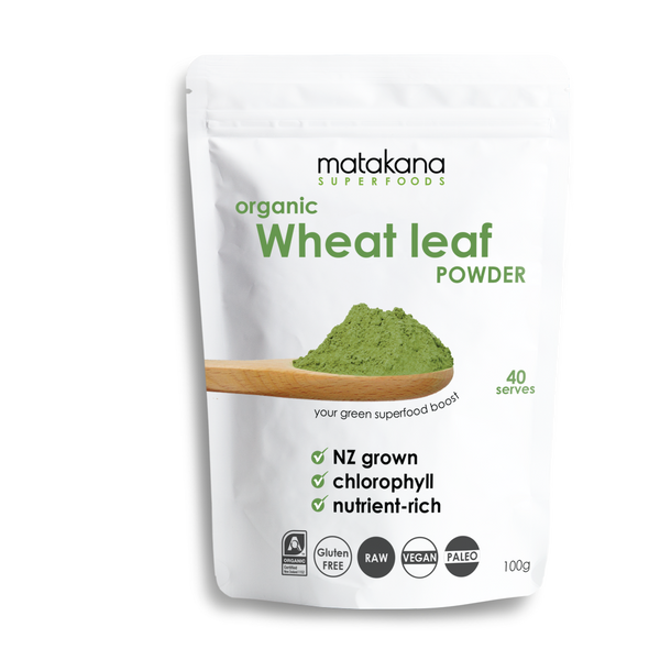 Organic Wheat Leaf Powder 100g - Matakana Superfoods