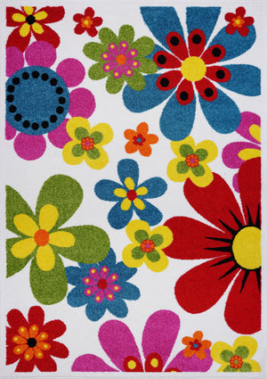 Floral Pattern Bright Beatuiful Made in Europe Area Rug Carpet in Multicolor