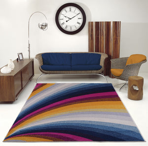 "Opal Abstract Style Rainbow Contemporary Modern Indoor Mat Carpet in Multicolor, 2x3 (1'10"" x 2'11"", 57cm x 90cm), 2x3 (1'10"" x 2'11"", 57cm x 90cm), Multicolor"