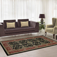 Terra Traditional Currant Red Black Area Rug -