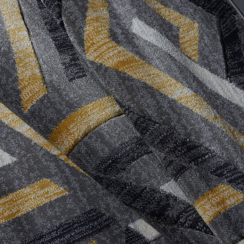 "Ladole Rugs Lynn Valley Grey Gold Mat 2'x3'3"" (60cm x 100cm)"