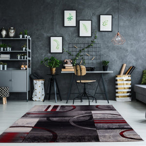 "Adonis Currant Grey Area Rug Soft Durable Easy to Clean Rug for Bedroom, Hallway, Dining Area Rug (2'7"" x 4'11"")"