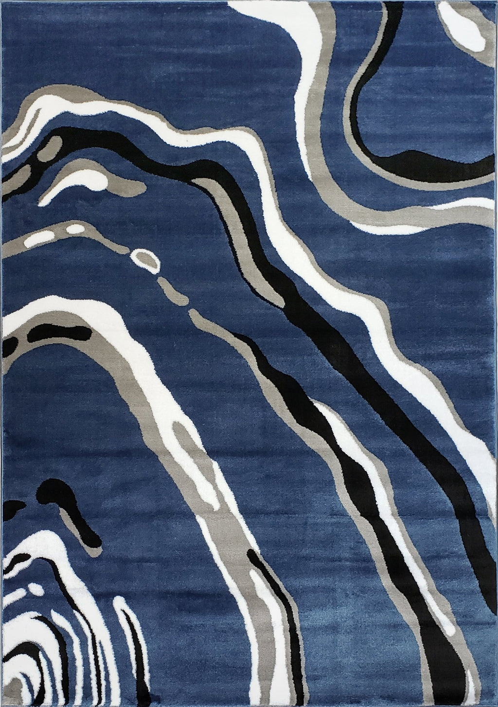 Calvin Blue Gray Abstract Area Rug