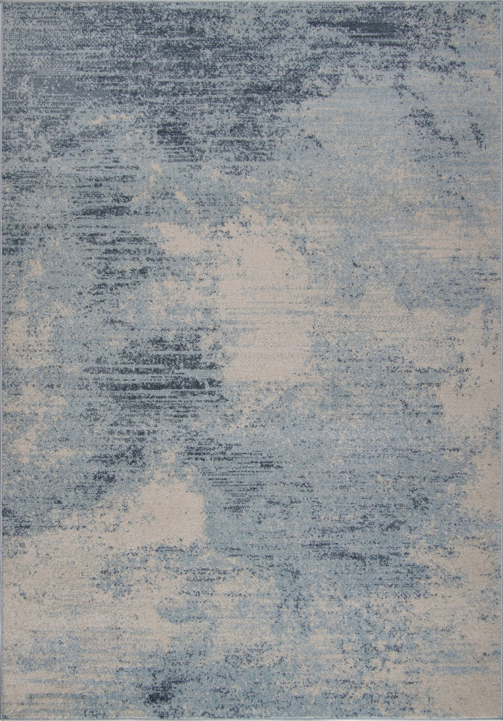 Unique Blue Ivory Rustic Area Rug