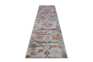 Morocco Southwestern Destressed Multicolor Area Rug Runner