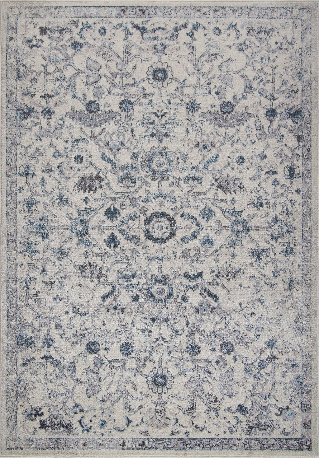 Arwen Cream Blue Traditional Persian Design Area Rug