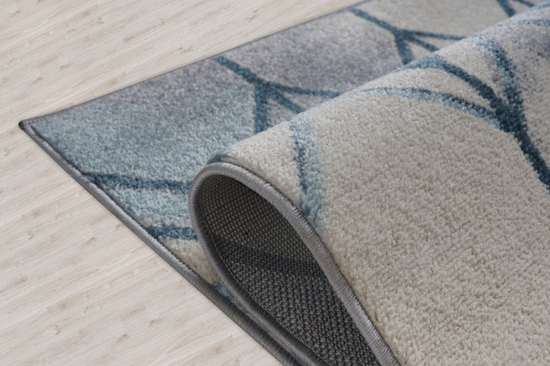 Stella Ivory Blue Grey Honeycomb Pattern Are Rug Rugs Store