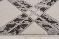 Barrington Ivory Grey Checks Pattern Area Rug