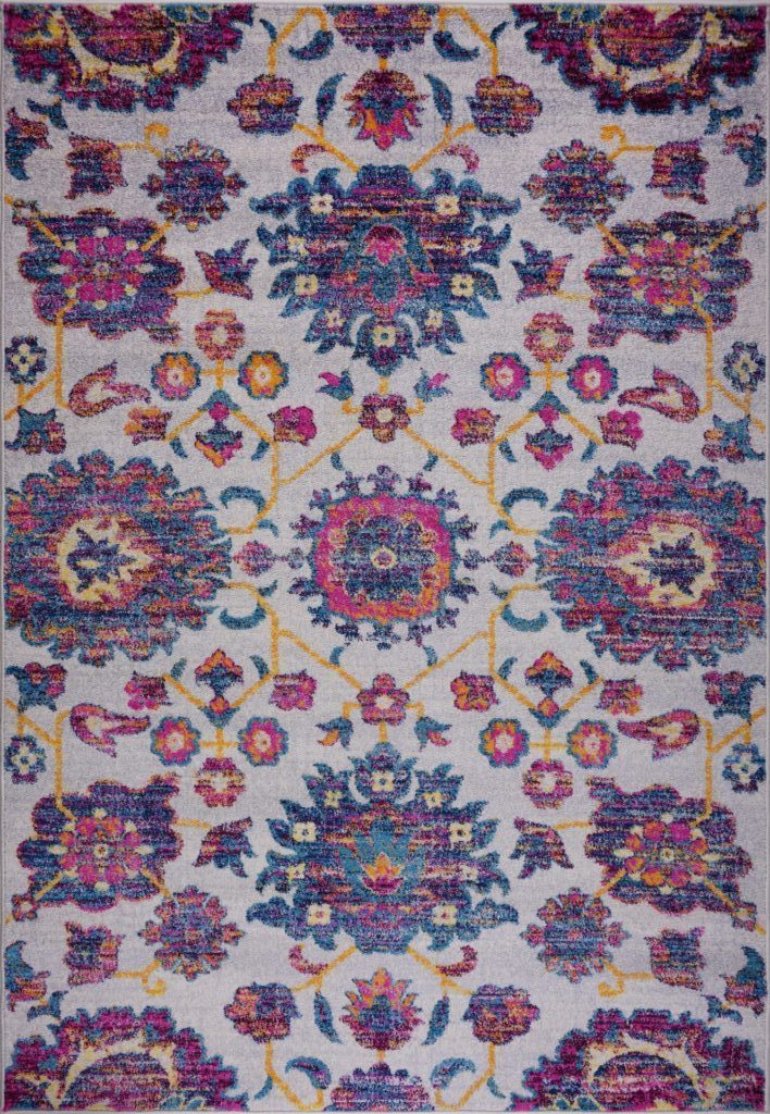 Johanna Floral Blotanical Persian Pattern Beautiful Soft Mat Carpet in Multicolor