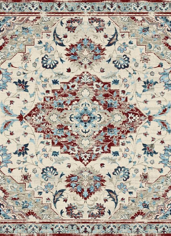 Victoria Traditional Distressed Style Area Rug
