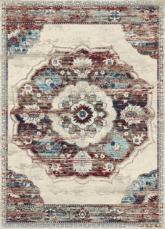 Victoria Traditional Distressed Style Medallion Area Rug