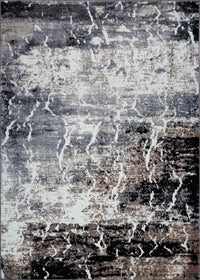 "Sandbanks Area Rug Dark Grey Black Abstract Arae Rug for Dining Area, Hallway (3'11"" x 5'3"")"