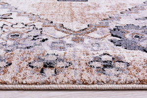 Everest Collection Chania Traditional European Durable Soft Beige and Cream rug