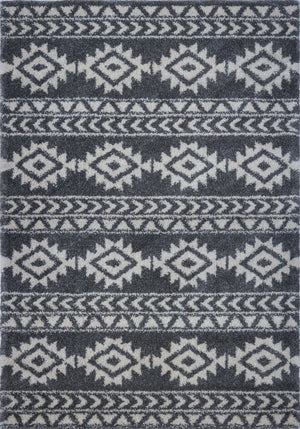 American Native Grey Ivory Area Rug -