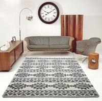 American Native Ivory Shaggy Area Rug