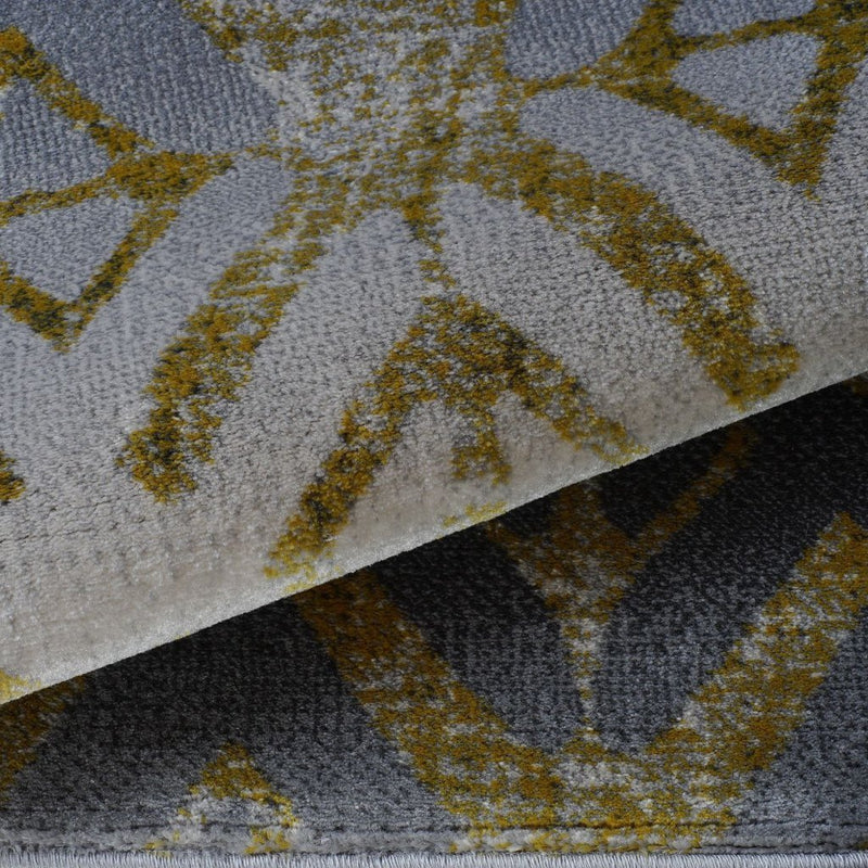 Alfalfa Gold Gray Area Rug -