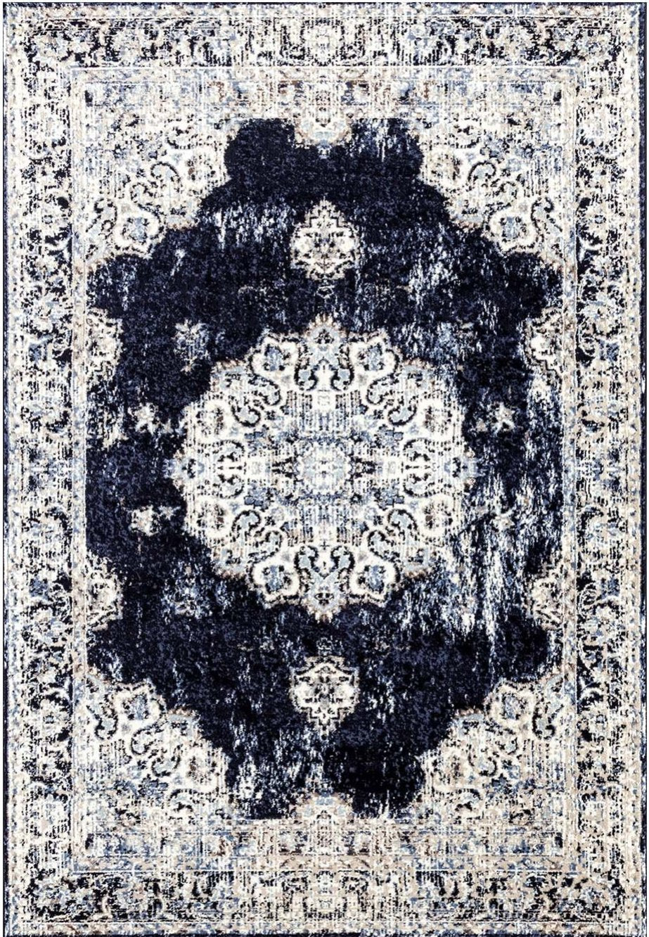 Florence Navy Ivory Traditional Area Rug