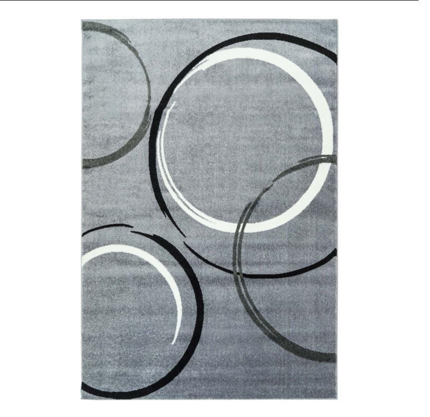Bravo Gray Abstract Area Rug