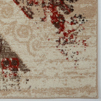 Dixie Caramel Rust Orange Area Rug -