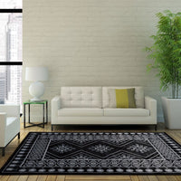 Burlington Black Gray Area Rug -
