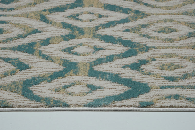 Venus Cream Blue Area Rug -