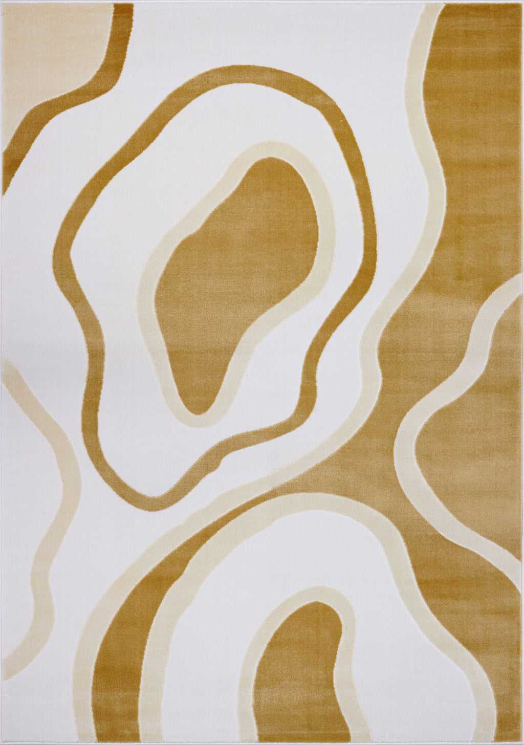 Peach White Pastel Abstract Area Rug