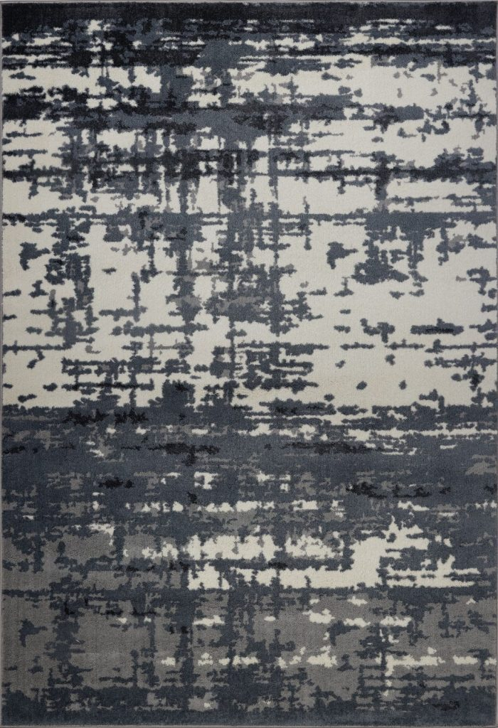 Barrie Gray Ivory Abstract Area Rug -