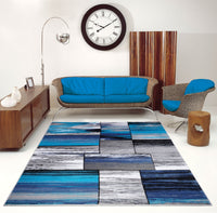 Blue Designer Area rug