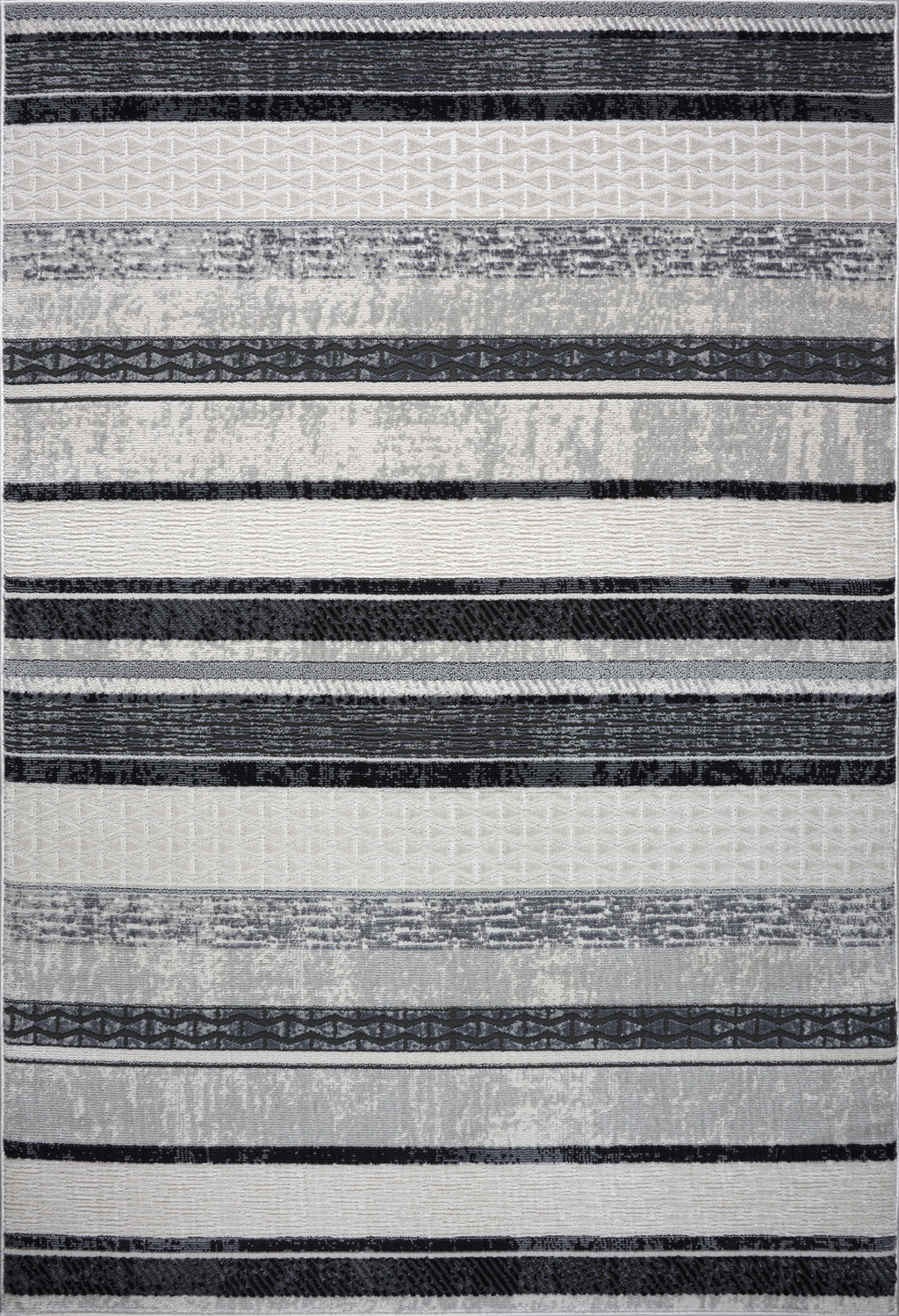 Lucas Dark Light Grey Modern Contemporary Area Rug