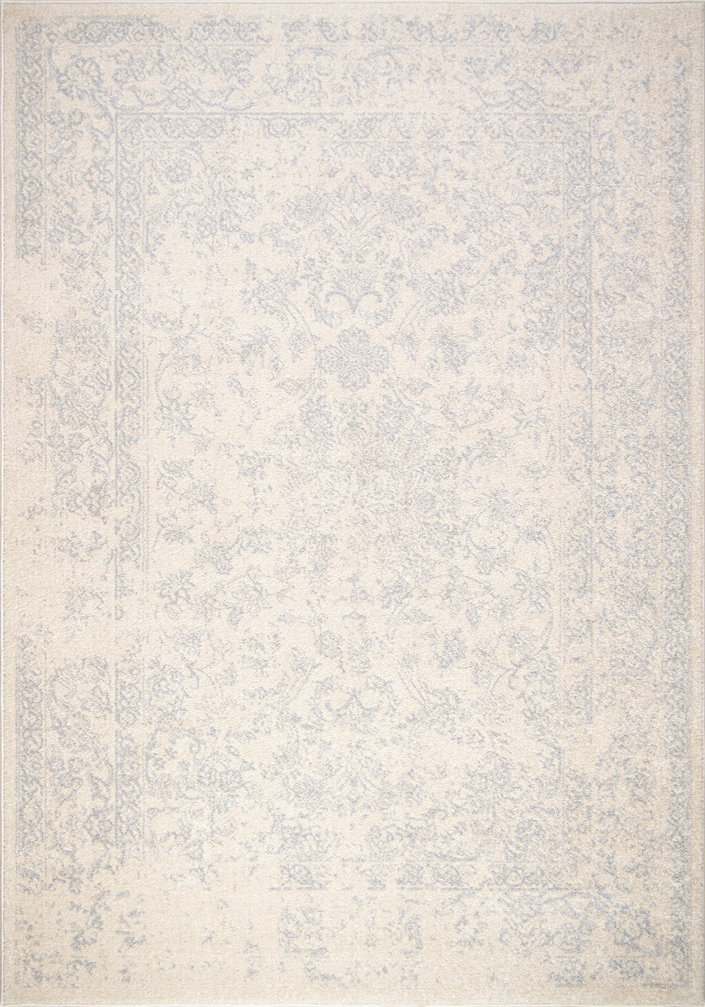 Cream Grey Persian Traditional Area Rug