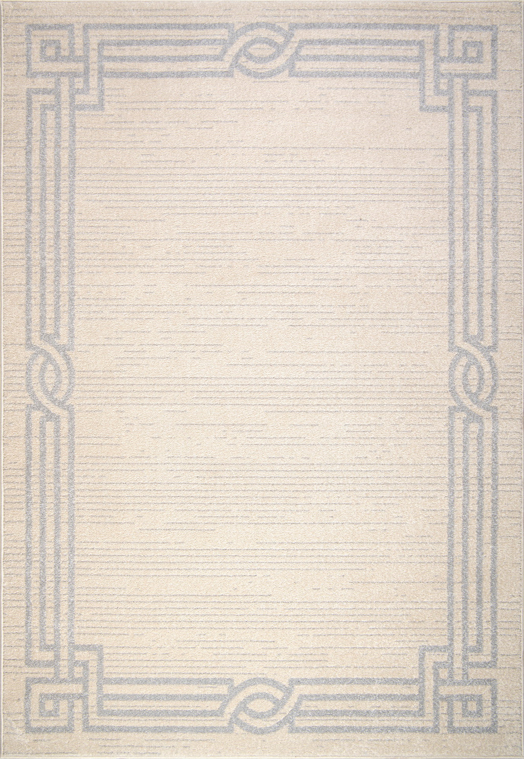Modern Ivory Grey Bordered Area rug