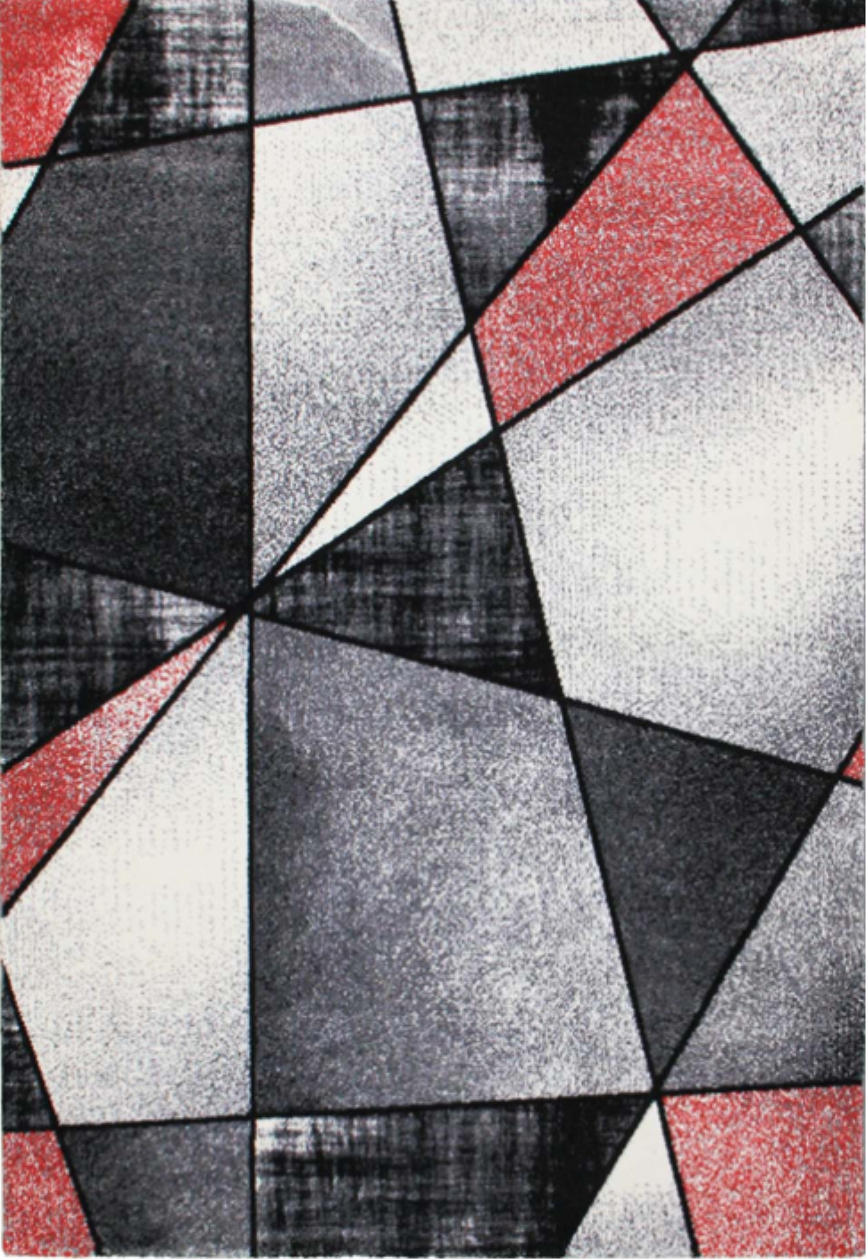 Emperor Abstract Red Gray Area Rug
