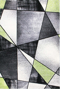 Emperor Abstract Green Gray Area Rug