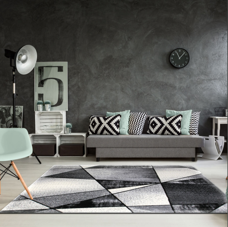Emperor Abstract Gray Area Rug -