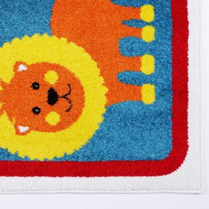 Adorable Animals Red Area Rug