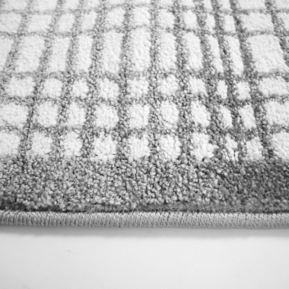 Gray Gingham Area Rug