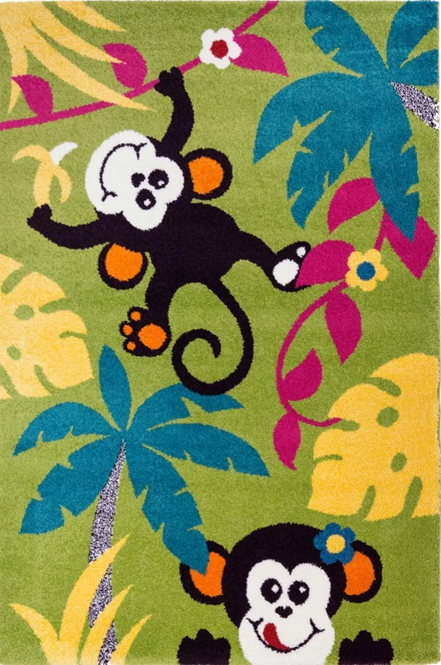 Moda Kids Monkeys Tropical Area Rug -
