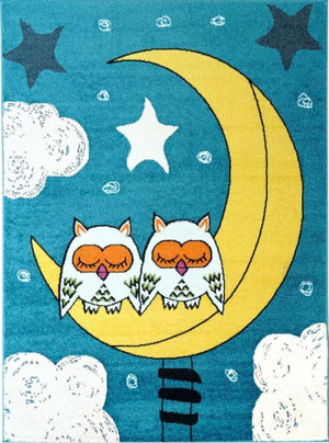 Moda Kids Owl Moon Area Rug -