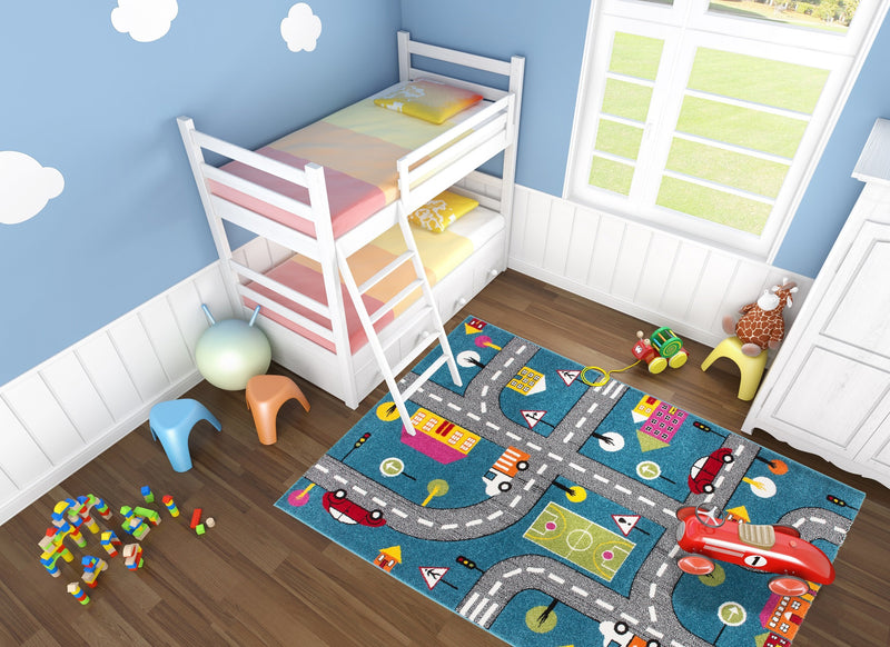 Moda Kids Play Carpet Cars Design -