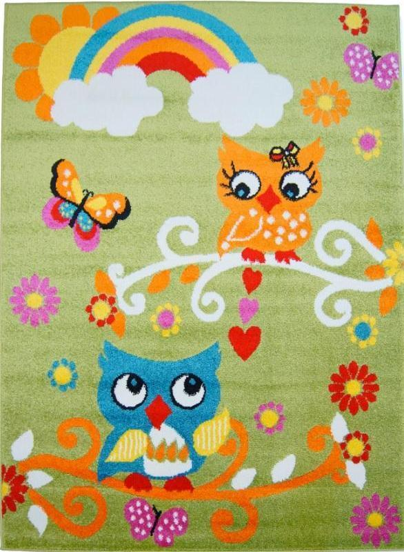 Moda Kids Owl Area Rug Green -