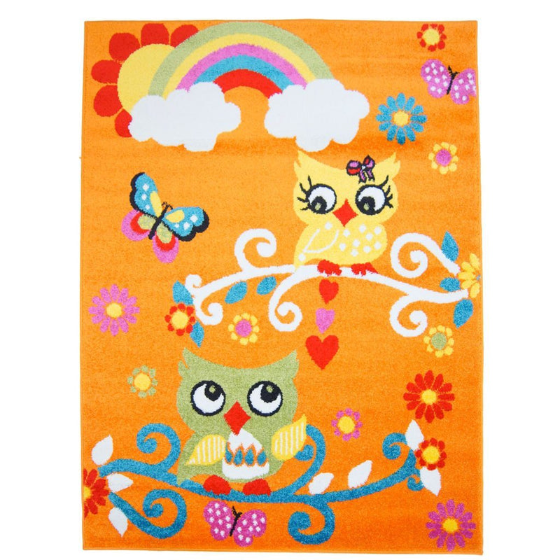 Moda Kids Owl Orange Area Rug