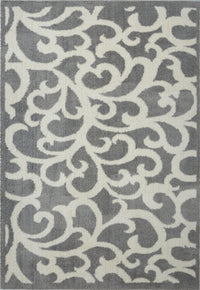 Nanaimo Shaggy Light Grey Micro-Polyester Rug -