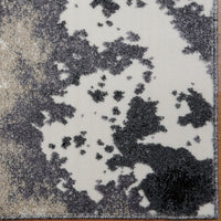 Siesta Grey Cream Abstract Area Rug -