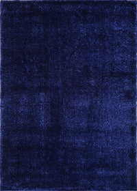 Candy Shaggy Navy Blue Soft Plush Area Rug -