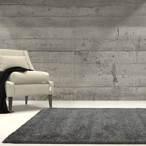 Candy Shaggy Soft Stylish Grey Area Rug -