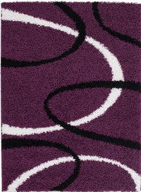 Shaggy Turkish Lilac Area Rug -
