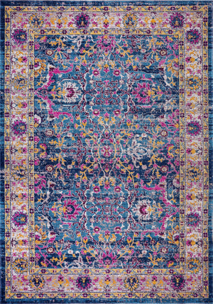 Whitby Blue Beige Traditional Indoor/Outdoor Area Rug